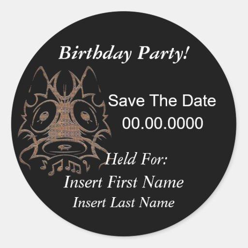 Ahorre a los pegatinas de la fiesta de cumpleaños