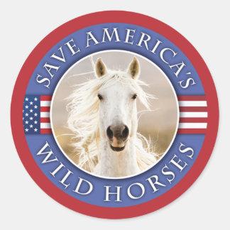 Ahorre a los pegatinas de los caballos salvajes de