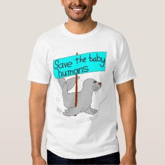 Ahorre a los seres humanos del bebé poleras
