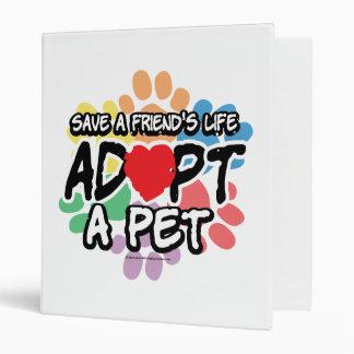 """Ahorre a un amigo adoptan a un mascota carpeta 1"""""""