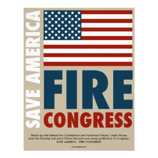 """Ahorre al congreso del fuego de América Folleto 8.5"""" X 11"""""""