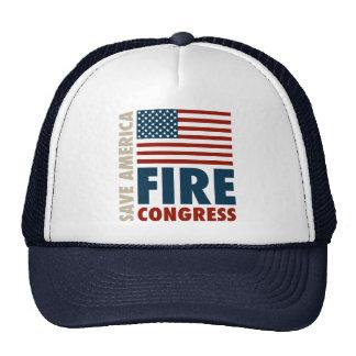Ahorre al congreso del fuego de América Gorro