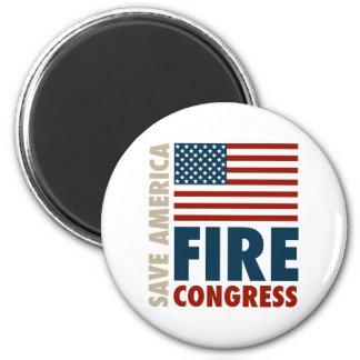 Ahorre al congreso del fuego de América Imán Redondo 5 Cm