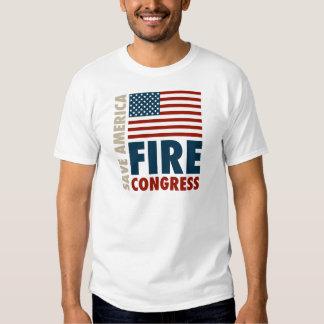Ahorre al congreso del fuego de América Playeras
