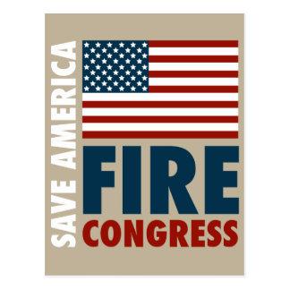 Ahorre al congreso del fuego de América Postales