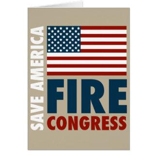 Ahorre al congreso del fuego de América Tarjeta De Felicitación