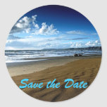 Ahorre al pegatina de la playa de la fecha