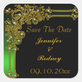 Ahorre al pegatina del boda de la fecha