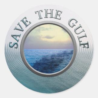 Ahorre al pegatina del golfo