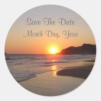 Ahorre al pegatina del personalizar de la fecha