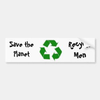 Ahorre al pegatina del planeta etiqueta de parachoque