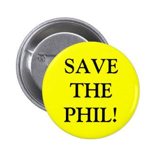 ¡Ahorre al PHIL! Pin Pin Redondo 5 Cm