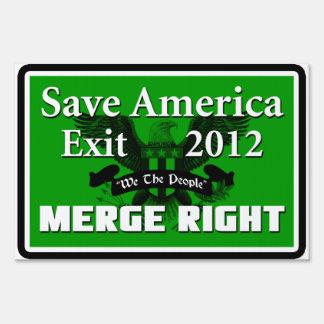 Ahorre América: ¡Combínese a la derecha! Cartel