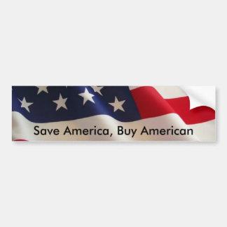Ahorre América, compre al americano Etiqueta De Parachoque