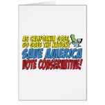 ¡Ahorre América, conservador del voto! Felicitación
