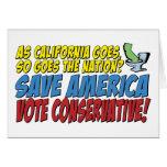 ¡Ahorre América, conservador del voto! Felicitacion