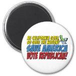 ¡Ahorre América, republicano del voto! Imán Para Frigorifico