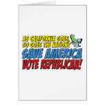 ¡Ahorre América, republicano del voto! Tarjeta