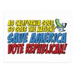 ¡Ahorre América, republicano del voto! Tarjetas Postales