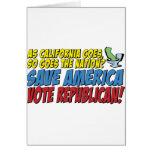 ¡Ahorre América, republicano del voto! Tarjeton