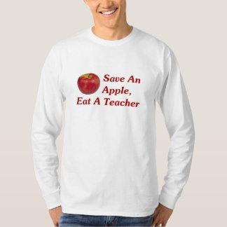 Ahorre Apple, coma a un profesor Playera