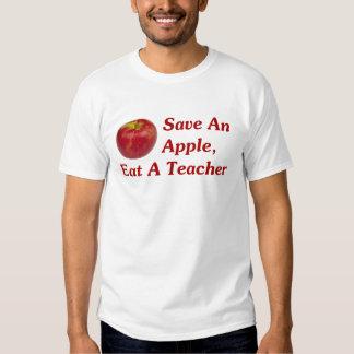 Ahorre Apple, coma a un profesor Remeras