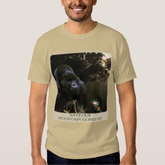 """""""Ahorre camiseta de la fauna de nuestros gorilas Playeras"""
