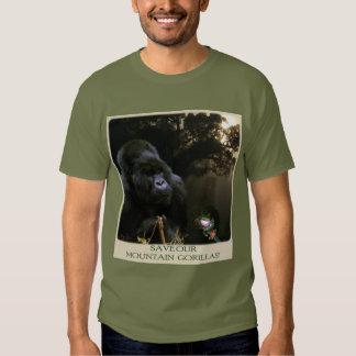 """""""Ahorre camiseta de la fauna de nuestros gorilas Poleras"""