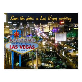 Ahorre casarse de Las Vegas de la fecha invitan Postal
