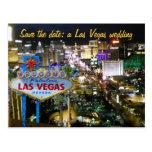 Ahorre casarse de Las Vegas de la fecha invitan Tarjeta Postal