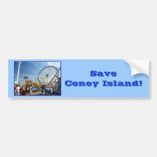 ¡Ahorre Coney Island! Pegatina para el parachoques Pegatina Para Auto