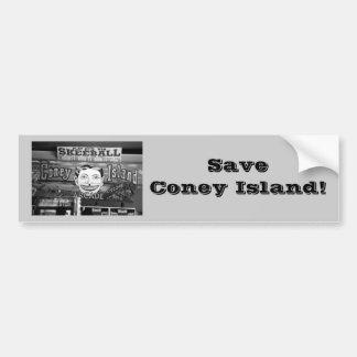 ¡Ahorre Coney Island! Pegatina para el parachoques Pegatina De Parachoque