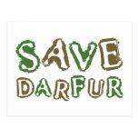 Ahorre Darfur 1 Postales