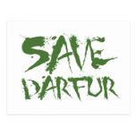 Ahorre Darfur 3 Tarjetas Postales