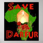 Ahorre Darfur Poster