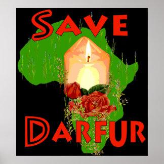 Ahorre Darfur Póster