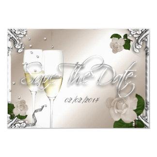 """Ahorre el 25to boda del aniversario de la fecha invitación 3.5"""" x 5"""""""