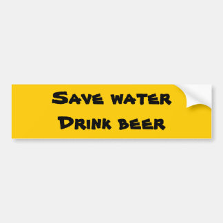 Ahorre el agua - cerveza de la bebida pegatina para auto