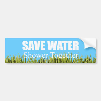 Ahorre el agua Ducha junto Etiqueta De Parachoque