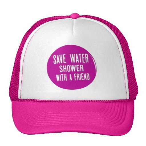 ahorre el agua gorras