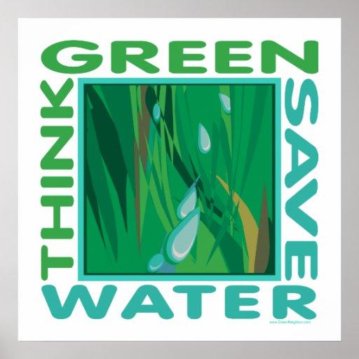 Ahorre el agua póster