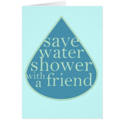 Ahorre el agua tarjeta de felicitación