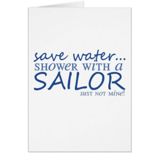 Ahorre el agua… tarjeta de felicitación