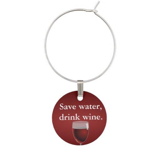 Ahorre el agua, vino de la bebida identificadores de copas