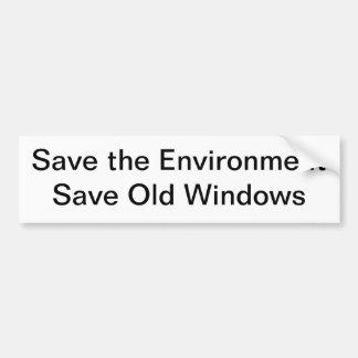 Ahorre el ambiente pegatina para auto