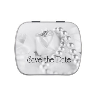 Ahorre el anillo de compromiso y las perlas clásic frascos de caramelos