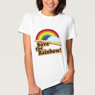 ¡Ahorre el arco iris! Remeras