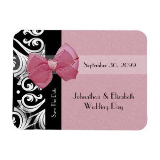 Ahorre el arco parisiense del rosa del boda de la imanes de vinilo