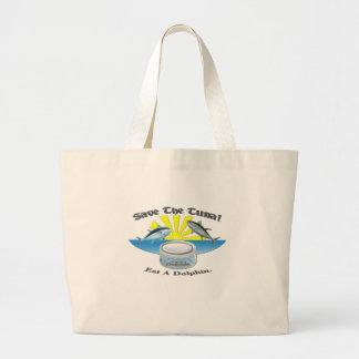 ¡Ahorre el atún! Bolsas Lienzo