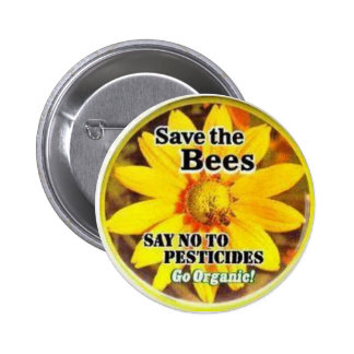 Ahorre el BeesGo orgánico Pin Redondo De 2 Pulgadas